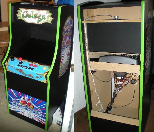 The Cabinet On The Night I Brought It Home. The Amount Of Empty Space  Inside Makes It Perfect For MAME.
